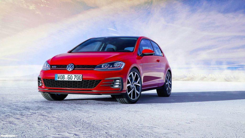 پس زمینه اتومبیل Volkswagen Golf GTI 2017